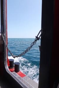 vue sur mer depuis bateau sete
