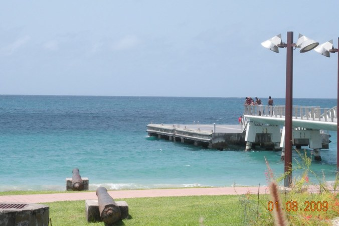 canons-plage-du-diamant-martinique