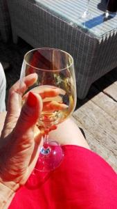 verre de chardonnay chateau les carrasses